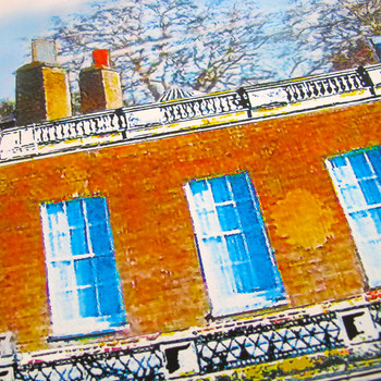 Clissold House Print detail 01 by Seán Myers at Of Cabbages and Kings