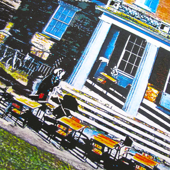 Clissold House Print detail 02 by Seán Myers at Of Cabbages and Kings