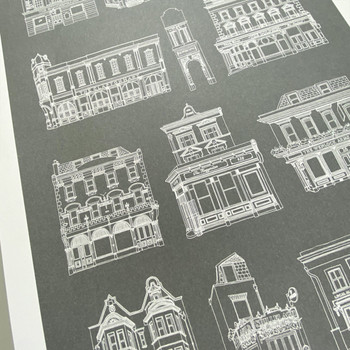 Hackney Pub Crawl Print detail 07 by Pub Scrawls at Of Cabbages and Kings