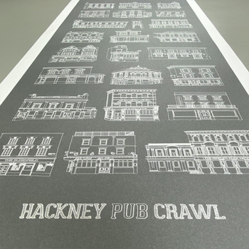 Hackney Pub Crawl Print detail 08 by Pub Scrawls at Of Cabbages and Kings