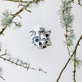 Origami Decoration Kit - Benita Print hanging bauble by Ola at Od Cabbages and Kings