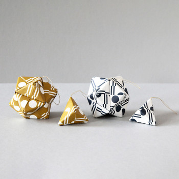 Origami Decoration Kit - Benita Print fished baubles by Ola at Od Cabbages and Kings