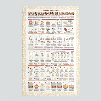 A Guide to Making Sourdough Bread Tea Towel detail by Stuart Gardiner at Of Cabbages and Kings