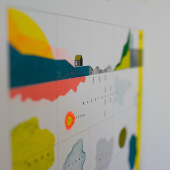 Wordmarks risograph print detail 01 by Ploterre at Of Cabbages and Kings