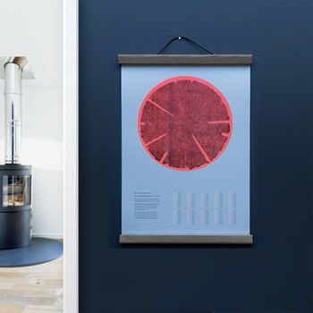 Tree Rings (Hot) risograph print lifestyle by Ploterre at Of Cabbages and Kings