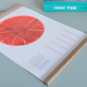 Tree Rings (Hot) risograph print detail 02 by Ploterre at Of Cabbages and Kings