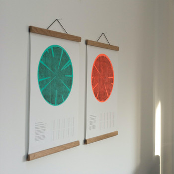 Tree Rings (Hot) risograph print group 01 by Ploterre at Of Cabbages and Kings