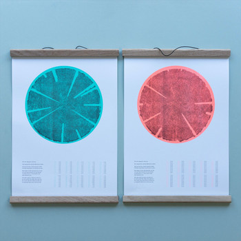 Tree Rings (Hot) risograph print group 02 by Ploterre at Of Cabbages and Kings
