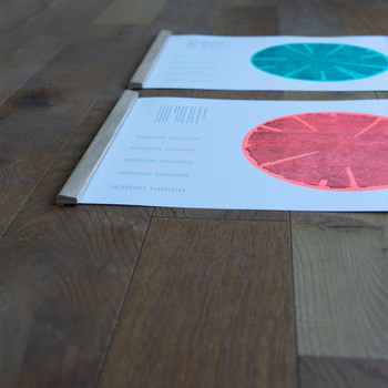 Tree Rings (Hot) risograph print group 03 by Ploterre at Of Cabbages and Kings