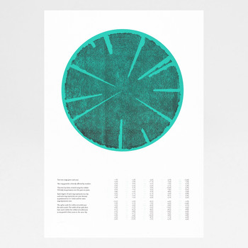 Tree Rings (Cold) risograph print by Ploterre at Of Cabbages and Kings