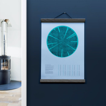 Tree Rings (Cold) risograph print lifestyle by Ploterre at Of Cabbages and Kings