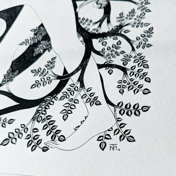 The Clearest Way Into The Universe Is Through A Forest screen print detail 01 by Tom Berry at Of Cabbages and Kings