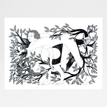 The Clearest Way Into The Universe Is Through A Forest screen print by Tom Berry at Of Cabbages and Kings