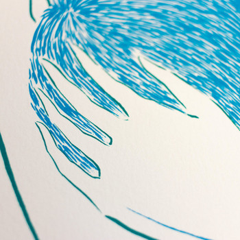 Stargazers screen print detail 05 by Tom Berry at Of Cabbages and Kings