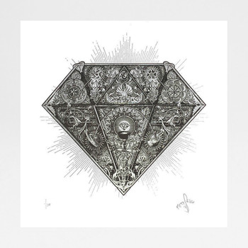 Diamond screen print by Fiftyseven Design available at Of Cabbages and Kings.