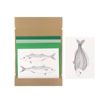 Fish recipe notecards by WitShop at Of Cabbages and Kings.