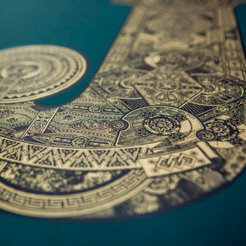 Illustrated J screen print detail by Fiftyseven Design at Of Cabbages and Kings