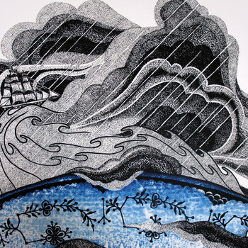 Storm In A Teacup art print clouds detail by Tom Berry at Of Cabbages and Kings
