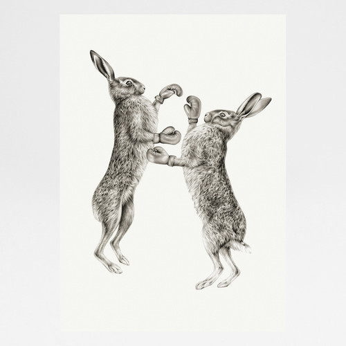 March Hares art print by Lauren Mortimer at Of Cabbages and Kings