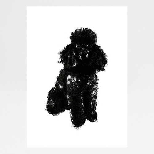 Poodle screen print by Tiff Howick at Of Cabbages and Kings.