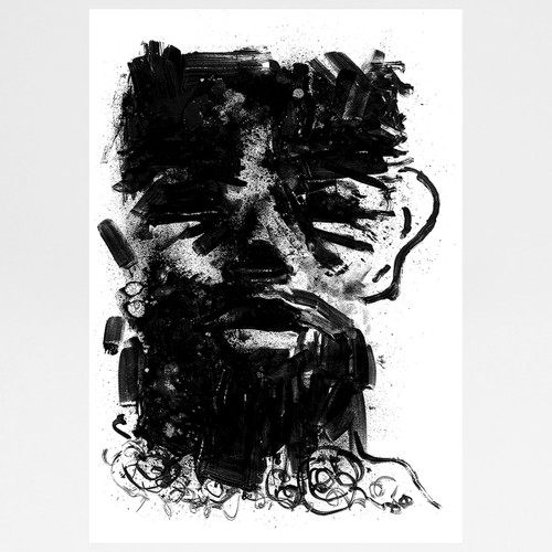 Beard Screen Print by Gavin Dobson at Of Cabbages and Kings.