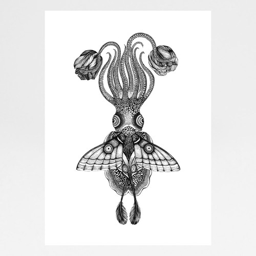 Tethidadoptera Art Print by Emily Carter at Of Cabbages and Kings.