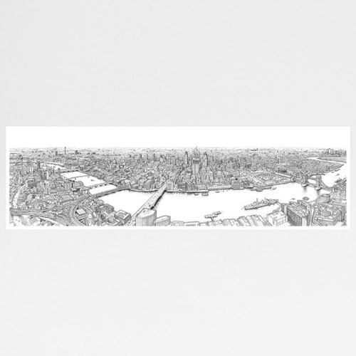 Panorama of London Print by Mike Hall at Of Cabbages and Kings