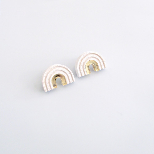 Arch Studs white by Wolf and Moon at Of Cabbages and Kings