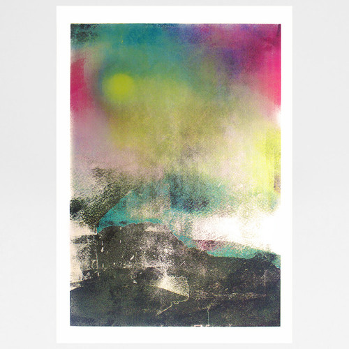 Northern Lights screen print by Gavin Dobson available at Of Cabbages and Kings