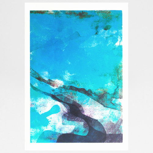 Sea screen print by Gavin Dobson available at Of Cabbages and Kings.