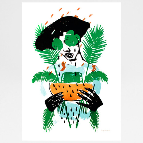 Tropicana - I Need A Vacation - Copper Leaf Edition by Marcelina Amelia available at Of Cabbages and Kings.