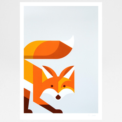 Fox screen print by The Lost Fox available at Of Cabbages and Kings.