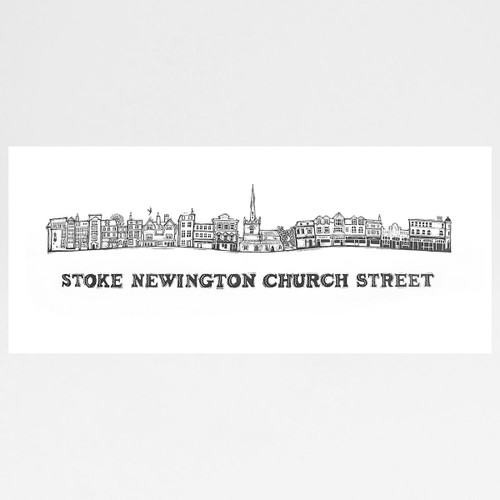 Stoke Newington Church Street screen print at Of Cabbages and Kings