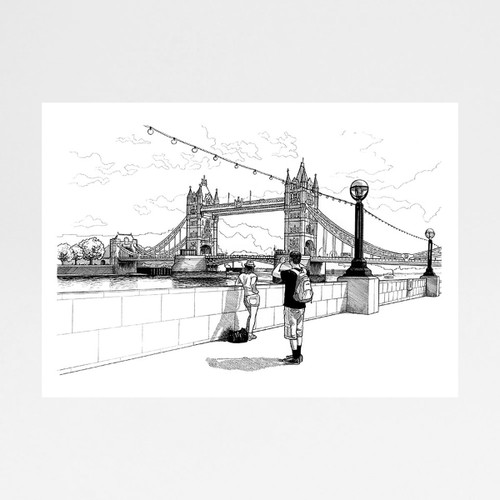Tower Bridge art print by Mike Hall at Of Cabbages and Kings.