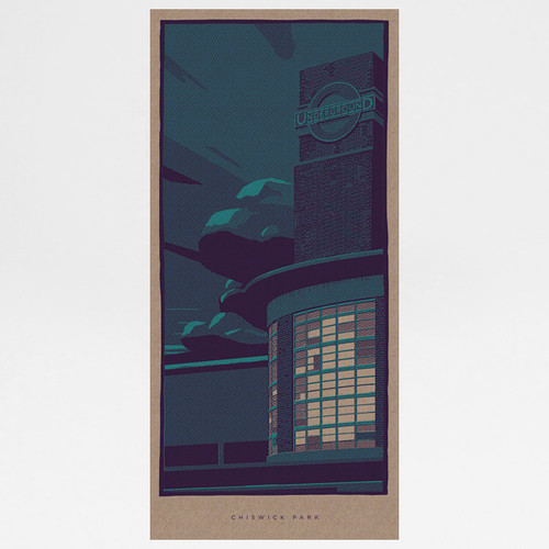 Chiswick Park art print by Liam Devereux at Of Cabbages and Kings