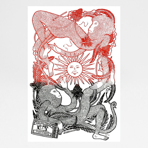 Don't Sell The Sun To Buy A Candle screen print by Tom Berry at Of Cabbages and Kings