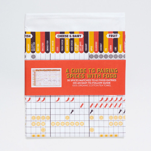 A Guide To Pairing Spices With Food Tea Towel by Stuart Gardiner at Of Cabbages and Kings