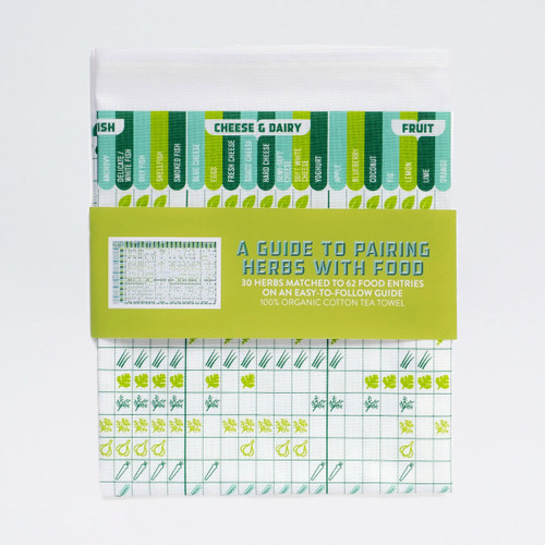 A Guide To Pairing Herbs With Food Tea Towel by Stuart Gardiner at Of Cabbages and Kings