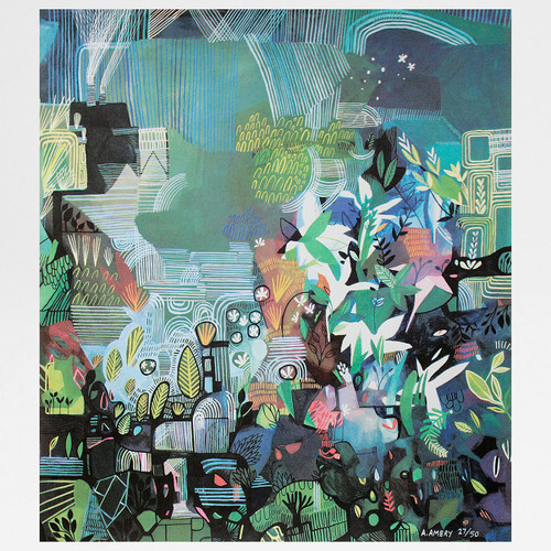 Ponds and Plants screen print by Ashley Amery at Of Cabbages and Kings