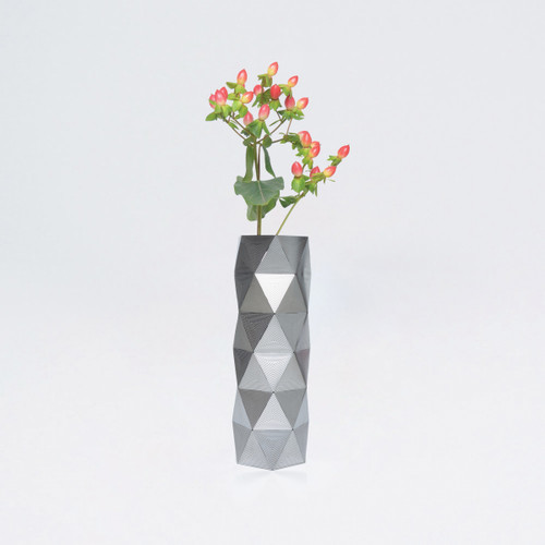 Medium Stainless Steel Geometric Convert Vase by Another Studio at Of Cabbages and Kings