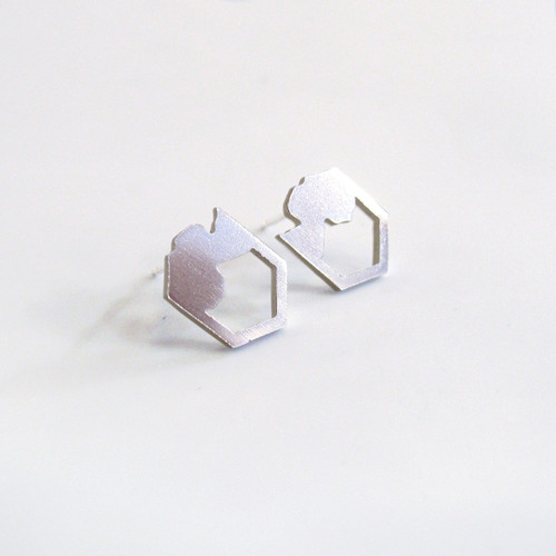 Pyren Silver Earrings by Promises Promises at Of Cabbages and Kings