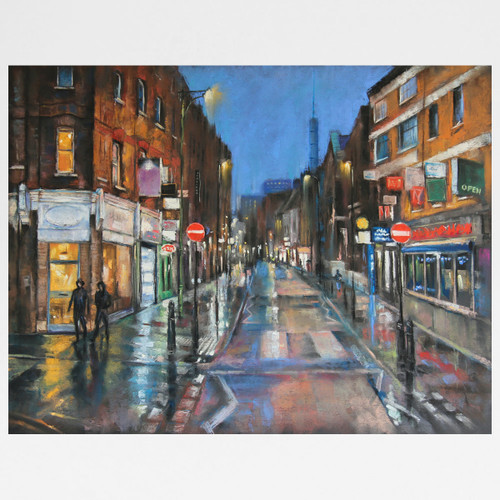 Rainy Night, Brick Lane art print by Marc Gooderham available at Of Cabbages and Kings.