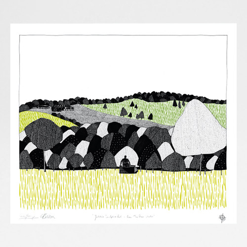 Yorkshire Sculpture Park - From The Deer Shelter screen print by Georgia Bosson and Cecily Vessey