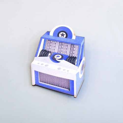 Vintage Jukebox Brooch by Jacqueline Wagner at Of Cabbages & Kings.