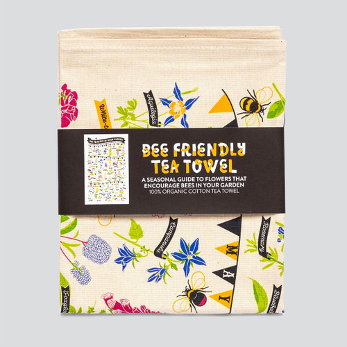 The Bee Friendly Tea Towel by Stuart Gardiner at Of Cabbages and Kings