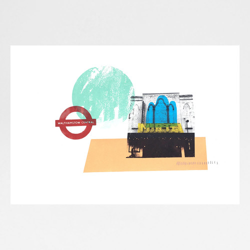East-Seventeen screen print by Anna Schmidt available at Of Cabbages and Kings.
