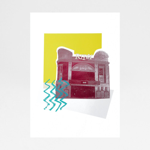 Glitzy Ritzy screen print by Anna Schmidt available at Of Cabbages and Kings.
