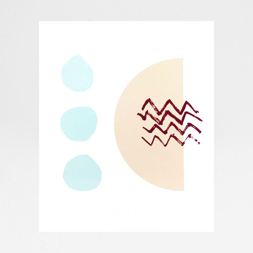 Ice Cream Sundae II screen print by Anna Schmidt available at Of Cabbages and Kings.