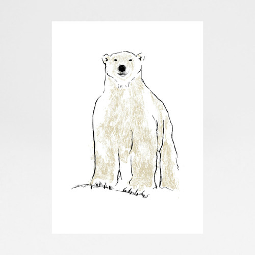 Polar Bear screen print by Tiff Howick at Of Cabbages and Kings