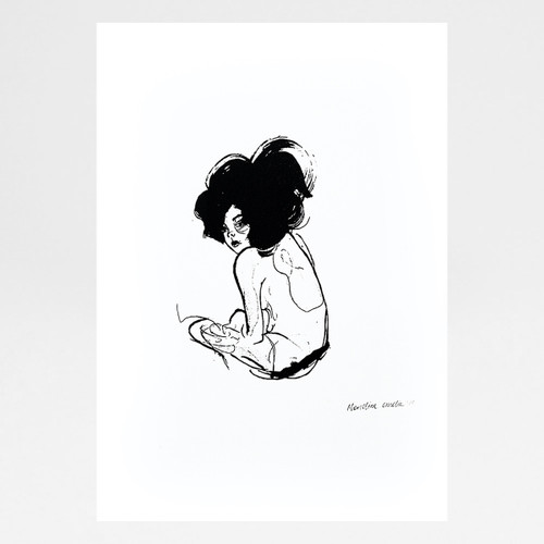 Untitled screen print by Marcelina Amelia at Of Cabbages and Kings